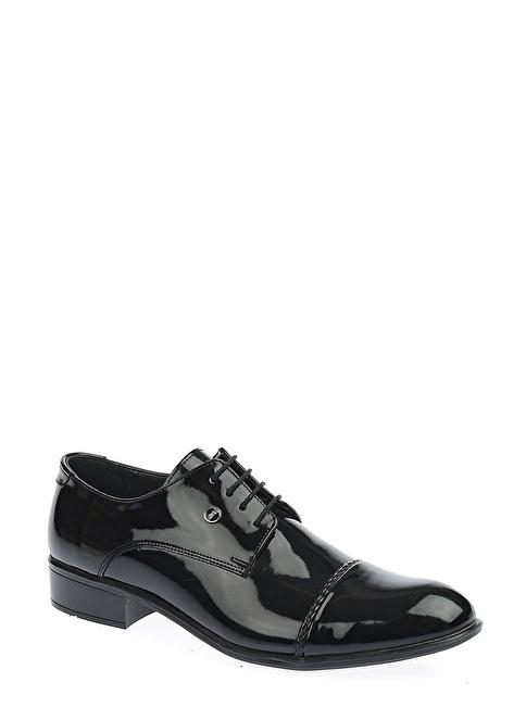 Derigo %100 Deri Bağcıklı Klasik Ayakkabı Siyah